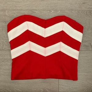 Forever 21 Red and White Stripe Tube Top